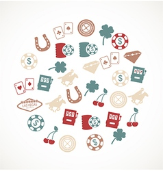Las Vegas icons vector image vector image