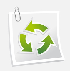recycle symbol with note vector image