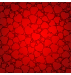 red background with hearts eps 8 vector image vector image