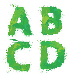 a b c d handdrawn english alphabet - letters vector image vector image