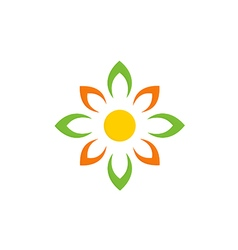 Abstract flower beauty decoration logo vector