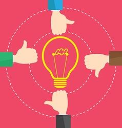 Businessman Like Concept Bulb Light Idea vector image vector image