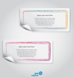 colorful label vector image vector image