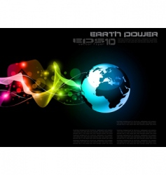 concept earth planet vector image