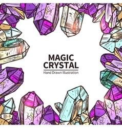 Crystals Hand Drawn vector image