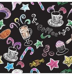 Hand drawn restaurant menu elements vector image