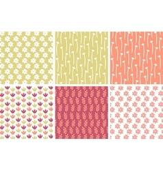 Pastel Floral Patterns vector image