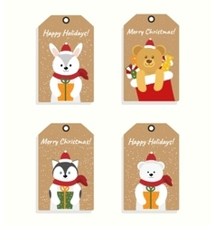 Set of ready-to-use gift tags vector image vector image
