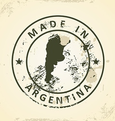 Stamp with map of argentina vector