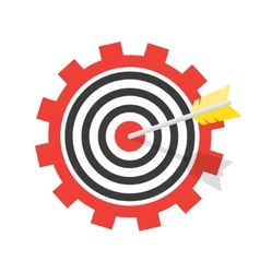 a target with an arrow vector image