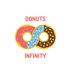 Donut shop logo template vector image
