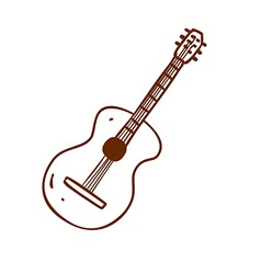 Hand Drawn Guitar vector image