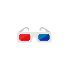 icon of 3d glasses cinema icon set vector image