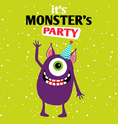 it is a party monster vector image
