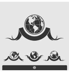 Planet set vector image vector image