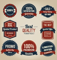Premium quality vintage label design vector image