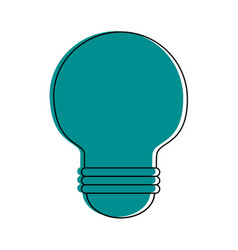 regular lightbulb icon image vector image vector image