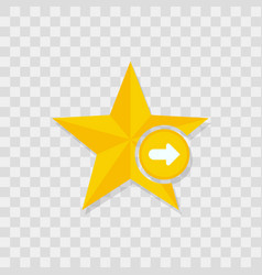 star icon arrow right icon vector image