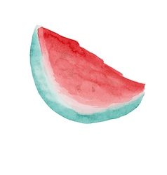 watermelon slice pitted for a pleasant thirst quen vector image vector image