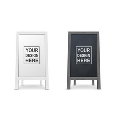3d realistic blank white and black wooden vector