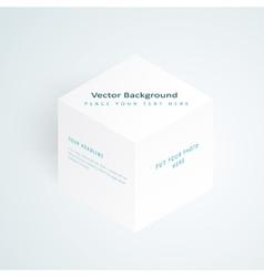 3d white cube vector