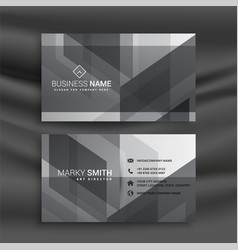 abstract gray geometric business card design vector image