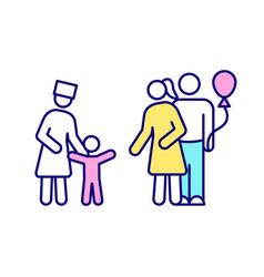 Adoption rgb color icon vector