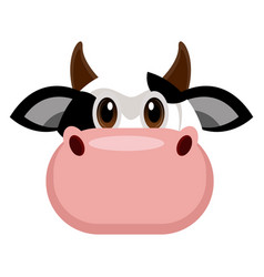 avatar of a cow vector image
