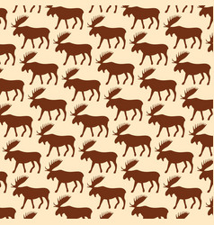 Background pattern with moose vector