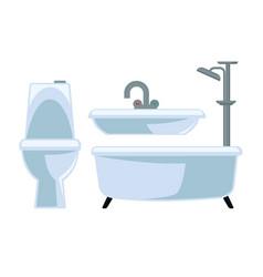 Bathroom equipment set isolated on white vector