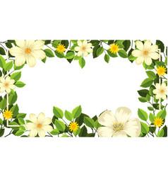 beautiful flower blank card template vector image