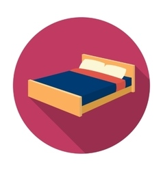 Bed icon in flat style isolated on white vector image