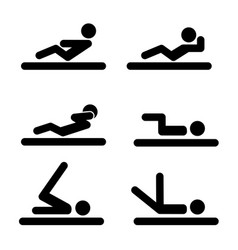 bench press icons vector image