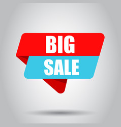 big sale banner badge icon business concept big vector image
