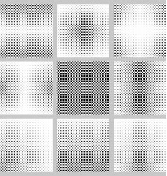 Black and white dot pattern set vector image