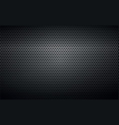 Black perforated metal background texture vector