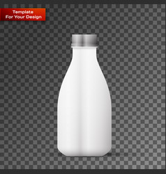 blank milk or juice pack isolated on transparent vector image