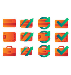 business and finance flat gradient icons vector image