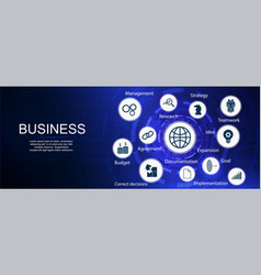 Business components banner vector
