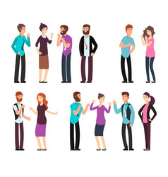 Business man woman and people have conversation vector