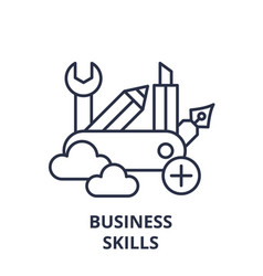 Business skills line icon concept business skills vector