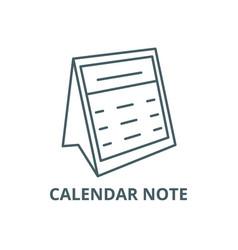 calendar note line icon calendar note vector image