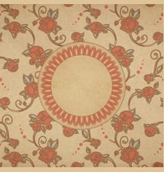 card vintage roses vector image