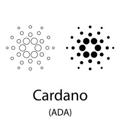 cardano black silhouette vector image