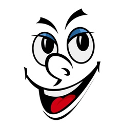 Cartoon funny face vector