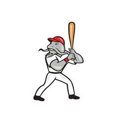 Catfish Baseball Hitter Batting Full Isolated vector