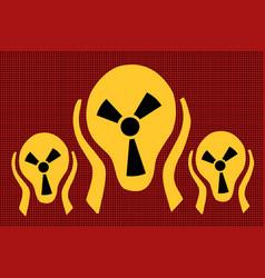 Caution radiation scream terror fear vector
