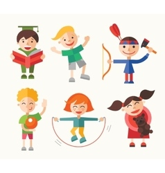 Children and their hobbies - flat design vector