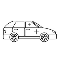 Clean car icon outline style vector