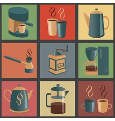 Coffee icon 1 vector